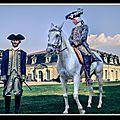 Rochefort, La Fayette le voici avec un <b>écuyer</b> de l'histoire (reconstitution historique)