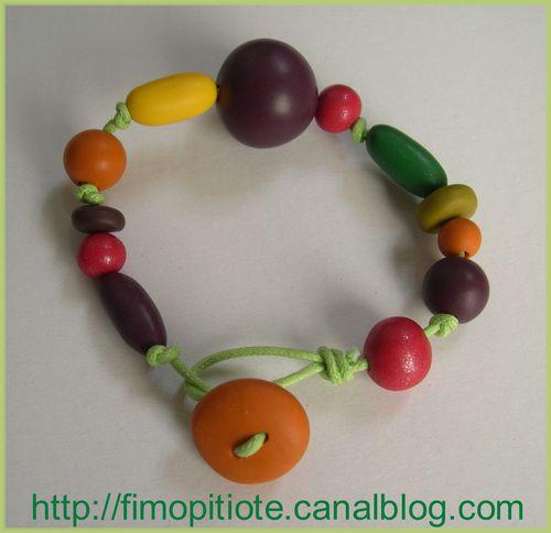 Bracelet boulles de couleurs