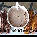 Churro's amandes et amandes/chocolat