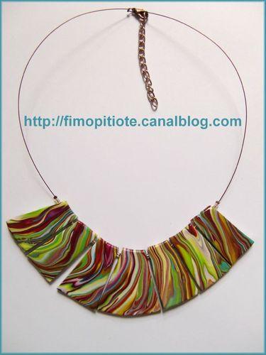 Bijoux pate fimo collier bracelet boucles d oreilles (106)