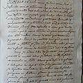 MANUSCRIT 1698 DU SIECLE DES LUMIERES