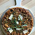 Quiche aux champignons avec pâte à la <b>farine</b> de <b>châtaigne</b>