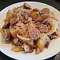 Fondu de chou blanc , bacon et saucisse au cookéo