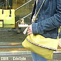 Mon sac pochon en cuir jaune •♥•