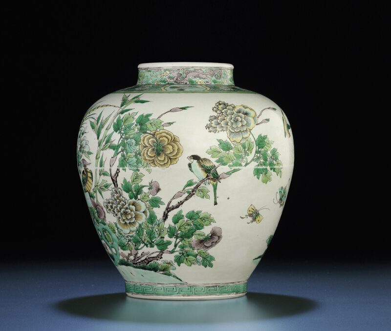 A rare famille verte jar, Kangxi six-character mark and of the period (1662-1722)