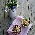 Muffins aux pommes et framboises, streusel aux flocons d'avoine