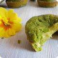 Financiers tout verts au thé matcha et coeurs fondants . sans gluten
