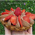 Tartelettes cookies, fraises et chocolat
