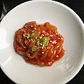 Encornet salé à la coréenne : jeot-gal (fermentation au sel)