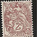 la fabrication des timbres au type Blanc