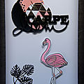 carpe diem, une <b>carte</b> flamand rose