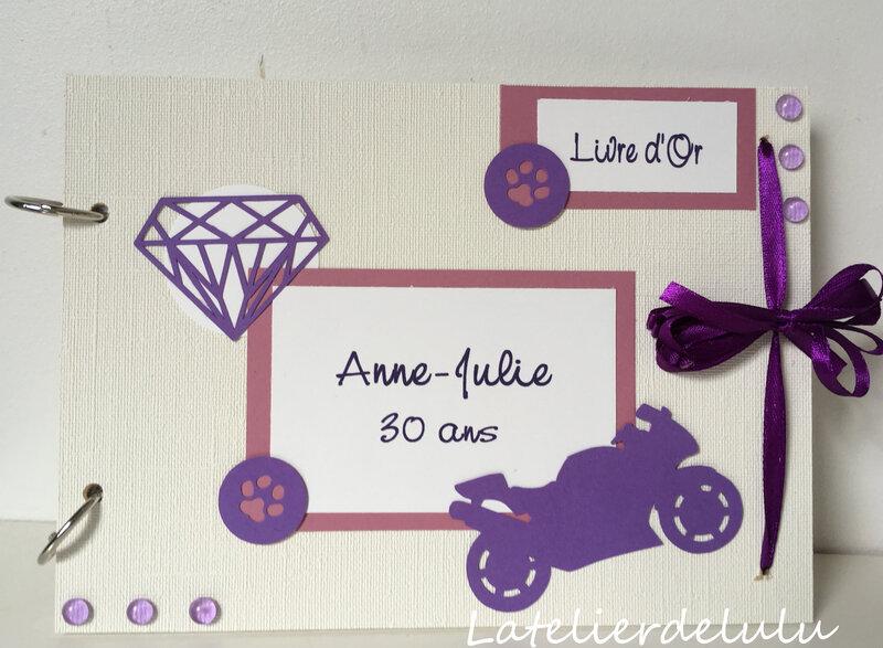 livre dor anniversaire moto bijoux