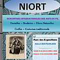 Rencontres internationales des arts du fil. niort juin 2016
