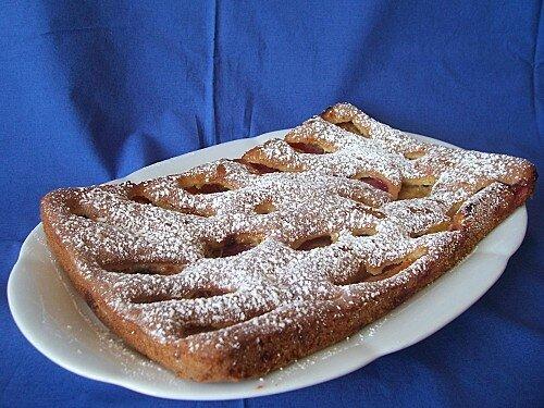 Gâteau aux prunes rouges de Plaisirs de la maison