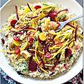 Thanksgiving c'est aujourd'hui : taboulé de quinoa aux cranberries, avocat et betterave