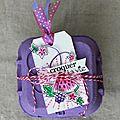 Cadeau de naissance, carte gourmande / kit d'août cie des elfes