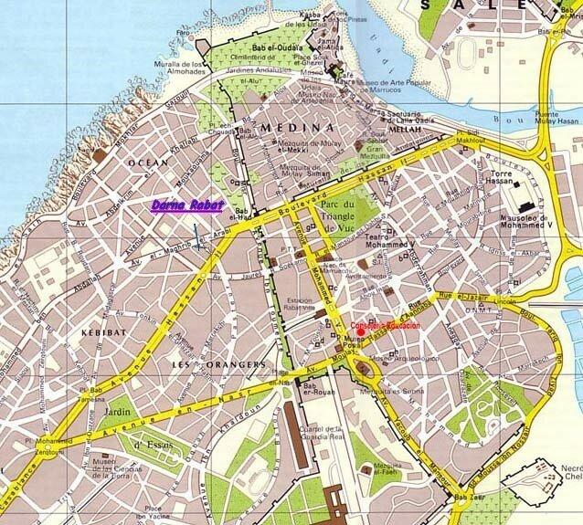 La carte de Rabat (darna)