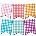 Ambiance guinguette : les fanions à carreaux vichy pour une guirlande en couleurs (gratuit - à imprimer)