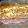 Cake au poulet, olive, mozza et crème fraiche