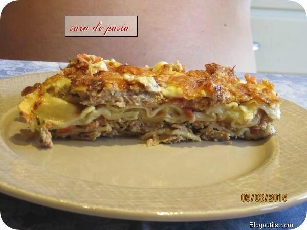 Pain de viande façon lasagne.