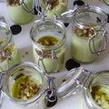 verrines avocat - pistache - huile de pistache