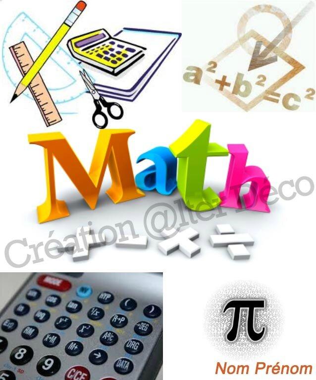 Page de garde Maths