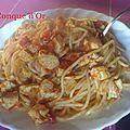 Spaghettis à l'espadon