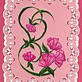 fleur fuchsia d'après le livre Delightful Designs nov 2011
