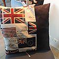 grand coussin rectangulaire en coton et alcantara création fait-main Lin Dentelle 47€ en vente dans ma boutique en ligne