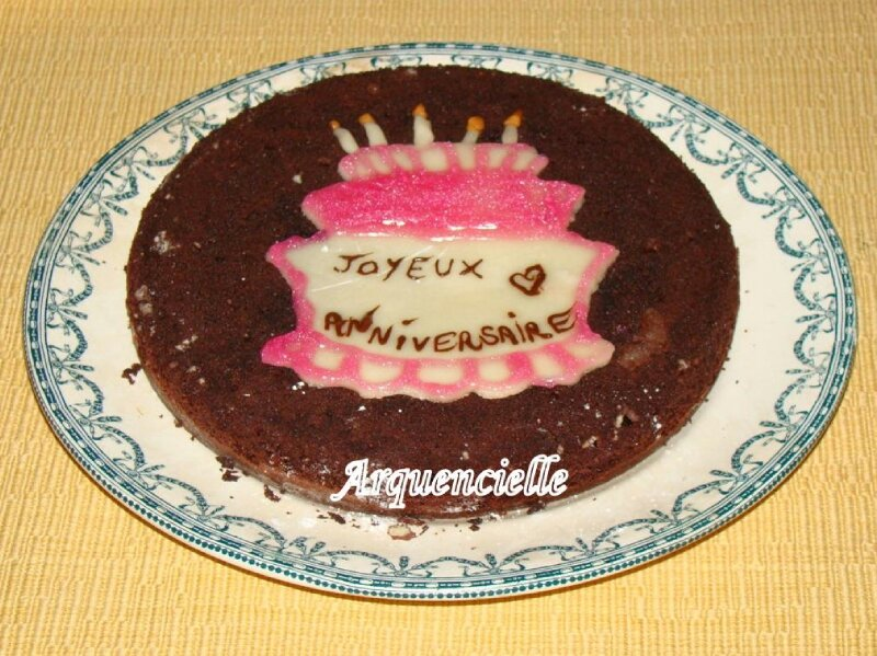Decoration Gateau Anniversaire Chocolat : G teau d anniversaire chocolat déco photo de