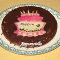 Gâteau d'anniversaire chocolat déco gâteau