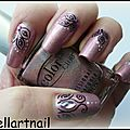 Halo-graphic nail art