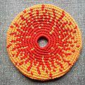 Frisbee soleil fond orange #fso000108