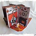 Mini livre pop-up : Le grimoire d'Halloween