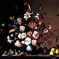 Balthasar van der Ast, A <b>vase</b> <b>of</b> <b>flowers</b> in the window, c. 1650