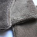lingettes 12x12 taupe