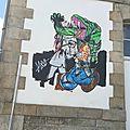 Street art : quimper esplanade françois mittérand