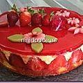 Le fraisier de fêtes des mères