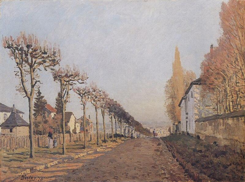 1873 - Le Chemin de la Machine, Louveciennes