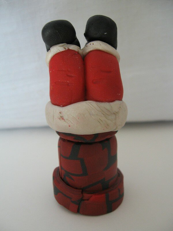 Père Noël les jambes