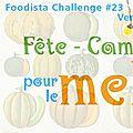 Foodista challenge # 23 : les résultats !!!
