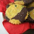 Sablés au curry et au cacao à la fleur de sel (pour une rencontre entre bloggueurs)