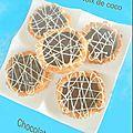 Tartelette noix de coco au chocolat