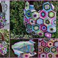 sac hexagones coton