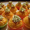 Cupcakes au saumon fumé et au wasabi