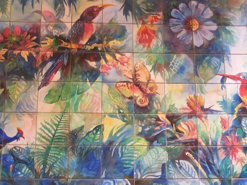 Decoration murale dans les couloirs de ce Palace