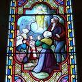 Vitrail des apparitions de la Vierge en 1791