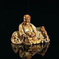 Budai et enfants, Chine, ca <b>18</b>° siècle