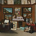 <b>Frans</b> <b>Francken</b> <b>the</b> <b>Younger</b> (Antwerp 1581 – 1642), <b>The</b> interior of a picture gallery with connoisseurs admiring paintings