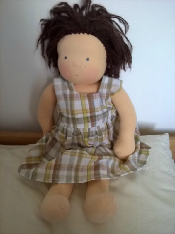 pinafore dress with a wide skirt